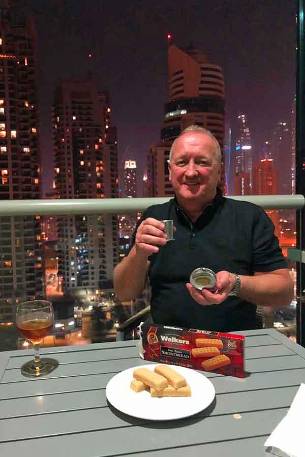 Dalvey Cup Club Member Ian in Dubai