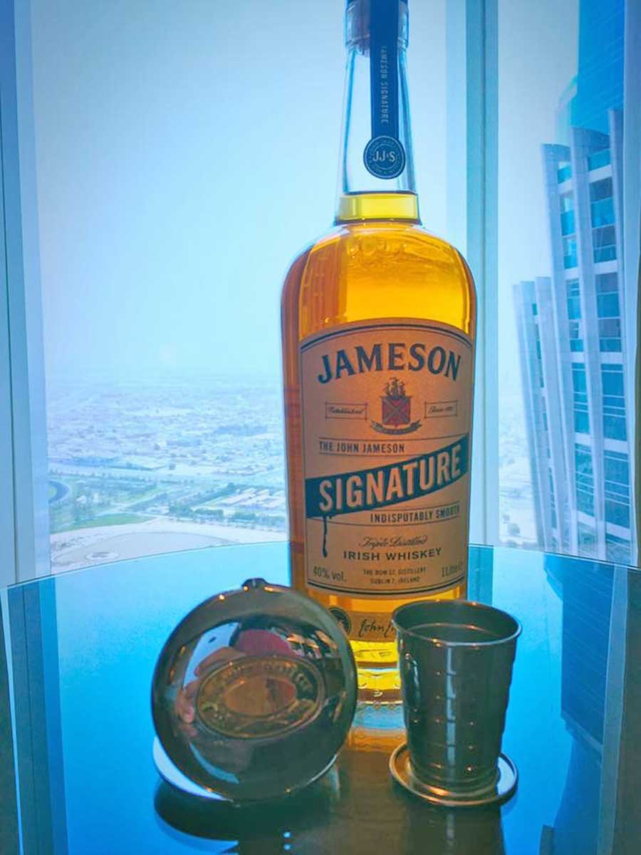 A Jameson Irish Whiskey tipple in the Dalvey Cup