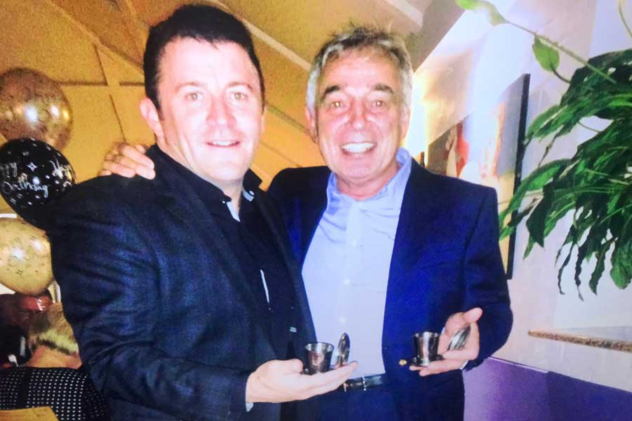 Members toast - Tom Gallagher & John Camilleri