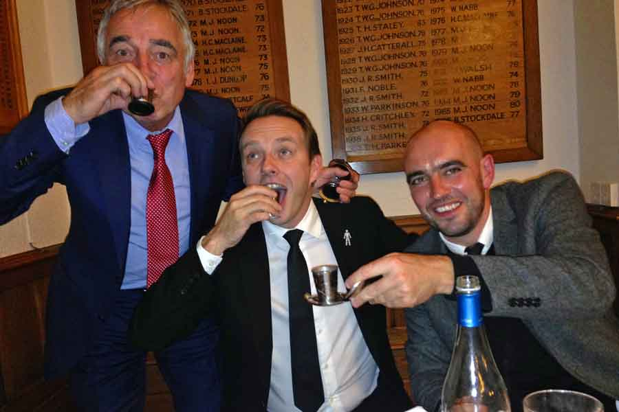 John Camilleri, Simon Crabtree & former England International football player Gavin McCann - Dalvey Cup Club members