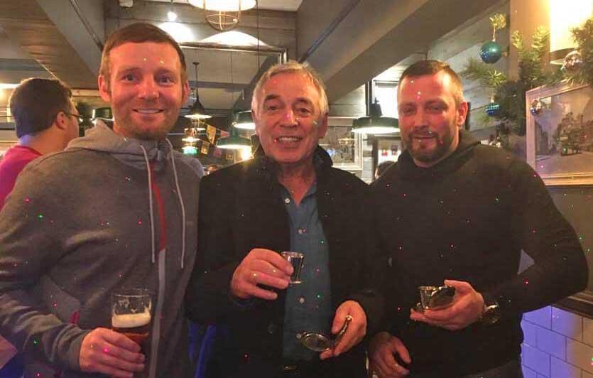 Dalvey Cup Club founder John Camilleri with sons Jonathan & Lee