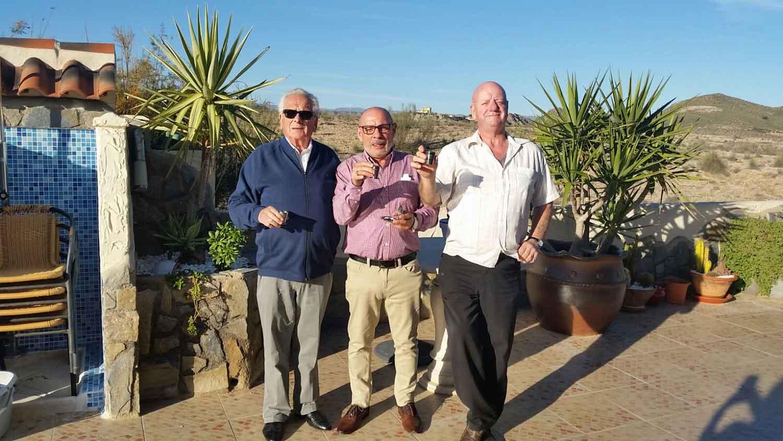 Bernard Burchall, Phil Camilleri & Dave Walton - Dalvey Cup Club Members