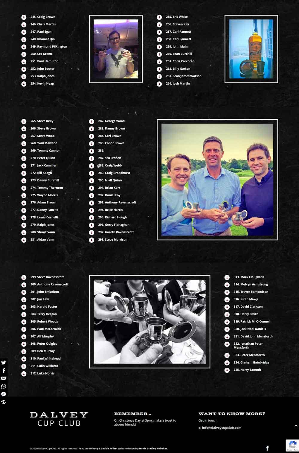 Members List - over 300 Dalvey Cup Club Members
